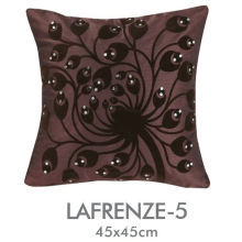 """18"""" X 18"""" Applique Large Pillow Covers Cozy Brown For Living Room Couch , Invisible Zipper"""
