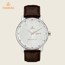 Mens relógios casuais relógio de quartzo de couro resistente à água 72387