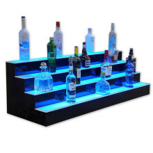 Lightened Acrylic Counter Top Display with LED for Bars Standing Wines, Pop Display Case