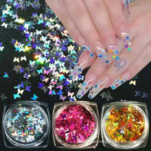 Glitter Powder Bulk Polyester Pet Holiday Costume Nails Art Butterfly Shape Glitter Powder