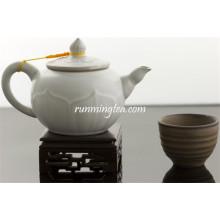 235cc Celadon Ru Kiln Tea Pot, lune blanche