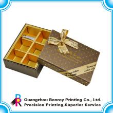 Logotipo personalizado de la caja de embalaje de chocolate de alta calidad