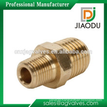 Zhejiang company high quality and competitive price forged 1/4 or 1/8 inch npt male brass reducing nipple