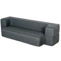 Canapé-lit pliant gris foncé Queen
