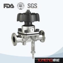 Vanne de diaphragme certifiée FDA en acier inoxydable avec drain (JN-DV1006)