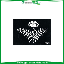 2015 getbetterlife new design shimmer glitter tattoo stencil wholesale/reusable glitter tattoo stencil/tattoo stencil