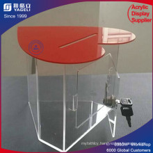 2017 Newest Elegant Customized Acrylic Donation Box