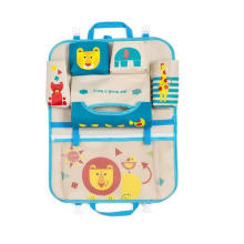 Hot Selling Hanging Cartoon Car Seat Back Organizer Storage Bags for Kids Children