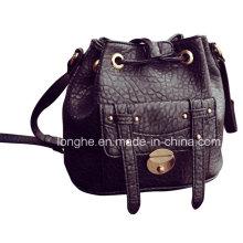 Casual Front Pocket Bucket Crossbody Bag (LY0215)