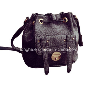 Casual Front Pocket Bucket Crossbody Bag (LY0215)