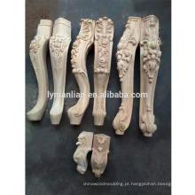 pernas de móveis de madeira escultura