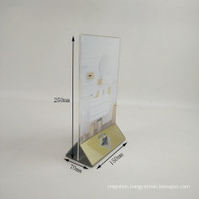 2018 New Design Fancy Clear Acrylic Table Tent Card Holder, Plastic Display Card Holder, High Quality Table Sign Stands