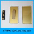 Blank rectangular plastic magnetic name badge