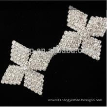 rhinestone flower shaped cup chain
