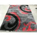 Der Teppich mit schwarzem Aschenpulver Stretchgarn und Seide