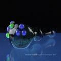 Cuillère en verre Poison Lagoon pour fumer avec des bosses Slyme (ES-HP-069)
