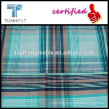 colorful multi check and stripe pattern yarn dyed plain woven fabric for clothing