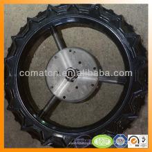 rueda trasplantadora acero con composición de goma fuerte acero base