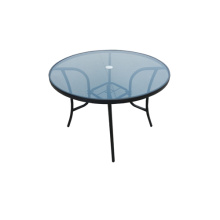 Outdoor furniture dining table with glass top
