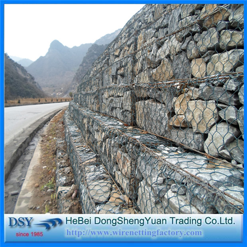 Hot-Dipped Galvanized Hexagonal Gabion Box Mesh