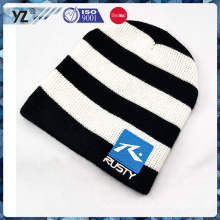 high quality striped knitted winter hat with cheap price