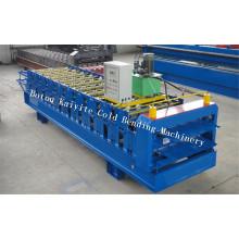Trapezförmige Roofing Sheet Doppelschicht-Rolle, die Maschine bildet