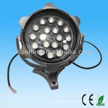Hochwertiger guter Preis Landschaftsbeleuchtung AC100-240v AC85-265V 18w multi Farbe führte Flutlicht 18w
