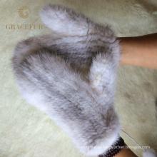 Мода натуральный мех перчатки