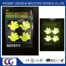 Etiqueta reflectante de alta visibilidad con luz fluorescente