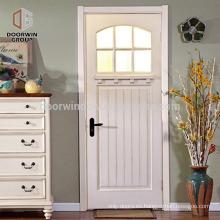 Puerta delantera lateral del país diseña puerta de madera de roble alerce blanco pino con vidrio templado