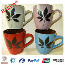 Hand Painted Maple leaf Ceramic Mug
