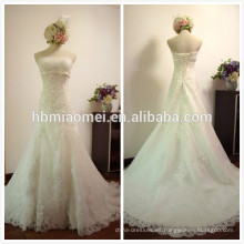 Vestido de novia hecho a medida longitud vestido de novia color blanco una línea vestido de novia de sirena