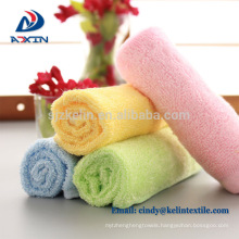 Best selling products 10''x10'' 32g baby handkerchief washcloth with ribbon