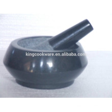 natural granite/marble mortar and pestle stone