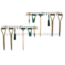 Gardening and Yard Tools Extra-Long Single-Tier Tool Hanger Rack