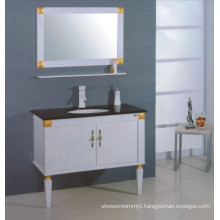 White Wooden Bathroom Cabinet (B-306)