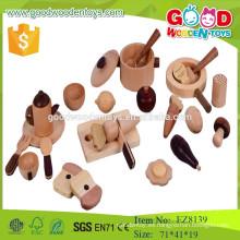 Nuevo diseño de cocina coreana conjunto de madera de madera fingir jugar juguetes