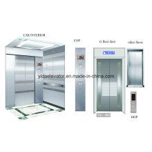 Ascenseur de passagers avec gravure en acier inoxydable Car Cabin