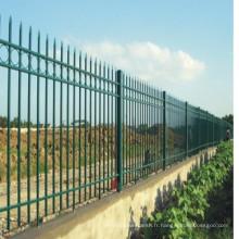 Clôture métallique de fer métallique de sécurité