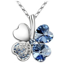 Clover Pendant Fashion Austrian Crystal Necklace