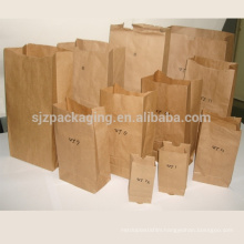 Good quality food grade brown kraft paper bag for packaging
