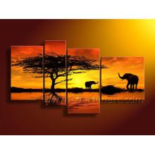 Segeltuch-afrikanische Kunst-Malerei für Wand-Dekor (AR-154)