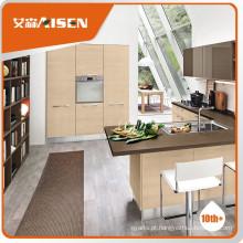 Armário de cozinha mfc de aparência fina com folheado de madeira