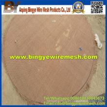 Malla de alambre ondulado de cobre redondo