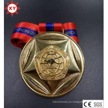 Medalla de metal chapada en oro de tarifa de molde gratis