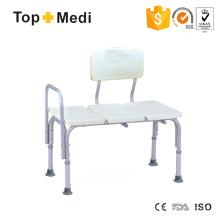Topmedi Duschstuhl mit erweiterter Sitzgröße und Rückenlehne für Bariatrie