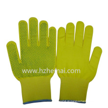 Luvas de nylon coloridas luvas de PVC pontilhada jardim luva de trabalho de segurança