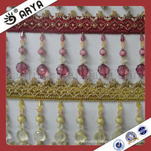 acrylic beads fringes for curtain decorative trimming