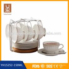 Экологичная эспрессо-керамическая кофейная чашка с блюдцем
