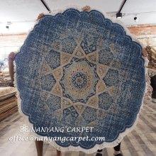 5'x5' Modern Handwoven Oriental Wool Area Rug